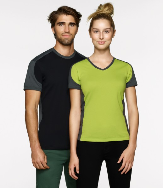 Hakro Women-V-Shirt-Contrast Performance