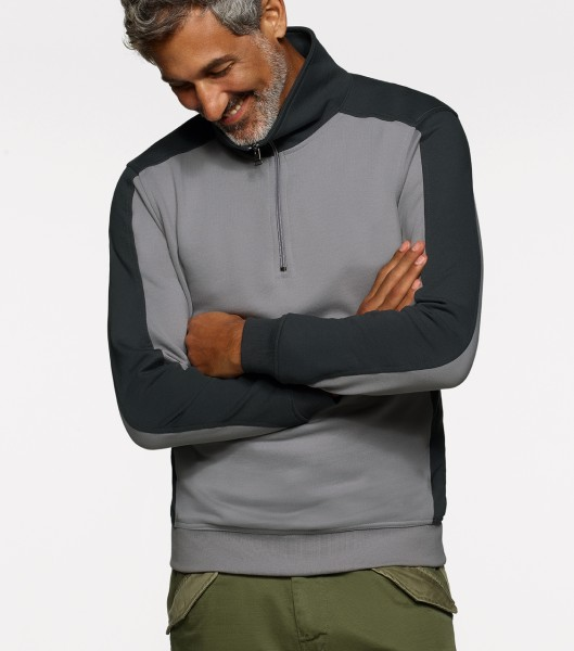 Hakro Zip-Sweatshirt Contrast Performance